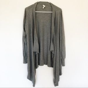 Joie | Gray Waterfall Cardigan Sweater